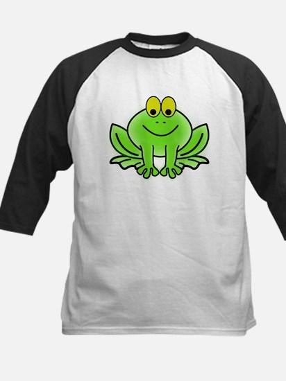 Smiling Cartoon Frog Baseball Jersey