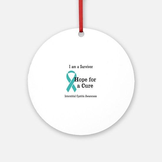interstitial cystitis awareness Round Ornament