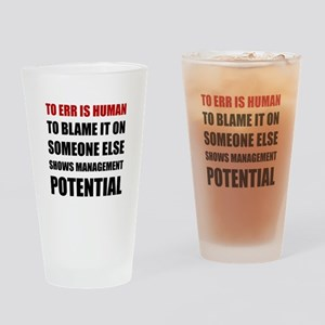 Management Potential Drinking Glass