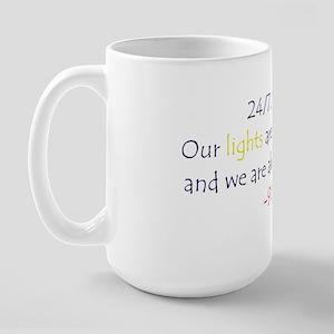 24/7, 365 large coffee mug