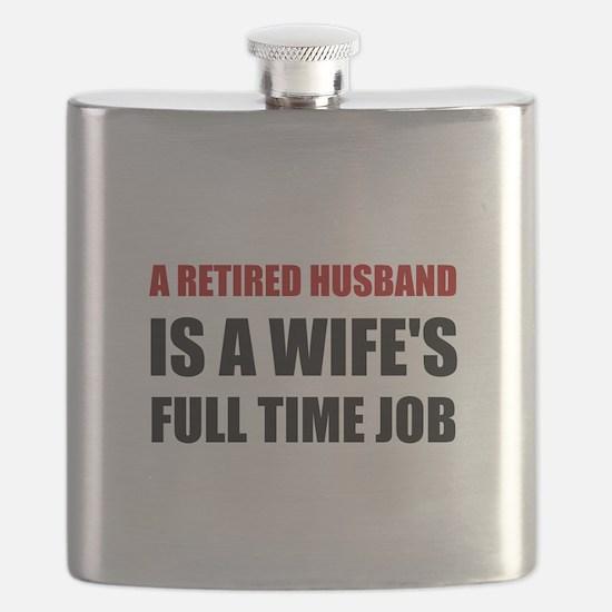 Retired Husband Flask