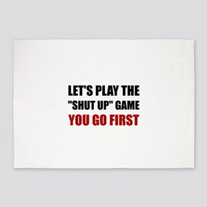 Shut Up Game 5'x7'Area Rug