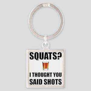 Squats Shots Keychains