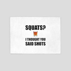 Squats Shots 5'x7'Area Rug