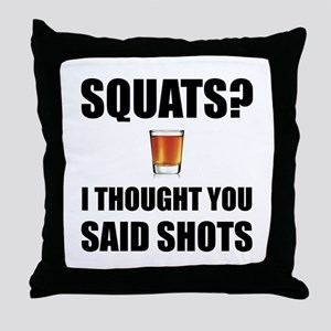 Squats Shots Throw Pillow