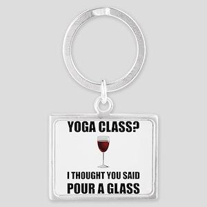 Yoga Class Glass Keychains