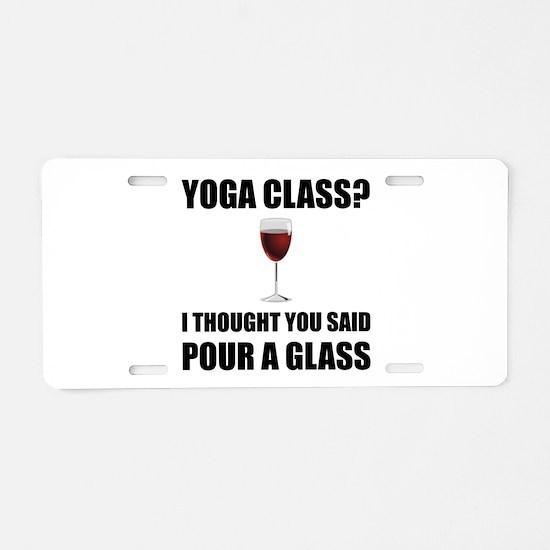 Yoga Class Glass Aluminum License Plate