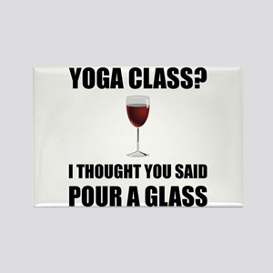 Yoga Class Glass Magnets