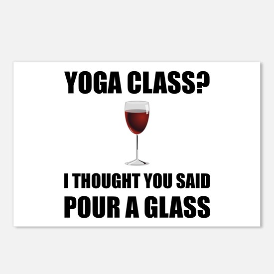 Yoga Class Glass Postcards (Package of 8)