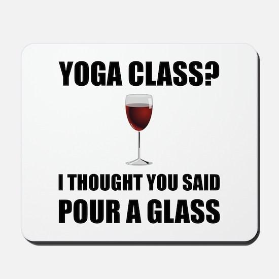 Yoga Class Glass Mousepad