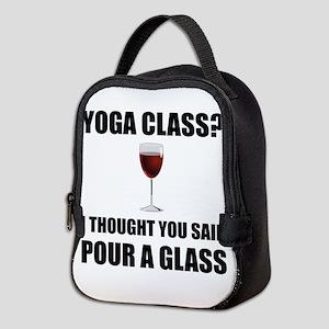 Yoga Class Glass Neoprene Lunch Bag