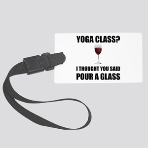 Yoga Class Glass Luggage Tag