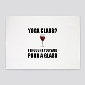 Yoga Class Glass 5'x7'Area Rug
