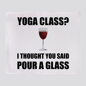 Yoga Class Glass Throw Blanket