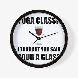 Yoga Class Glass Wall Clock