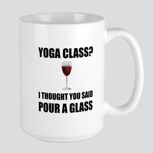 Yoga Class Glass Mugs