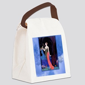 Barbier Night Roses Canvas Lunch Bag