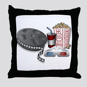 3D Cinema Throw Pillow