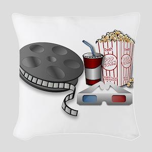 3D Cinema Woven Throw Pillow