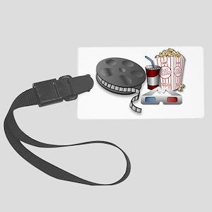 3D Cinema Large Luggage Tag