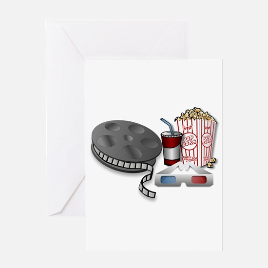 3D Cinema Greeting Cards