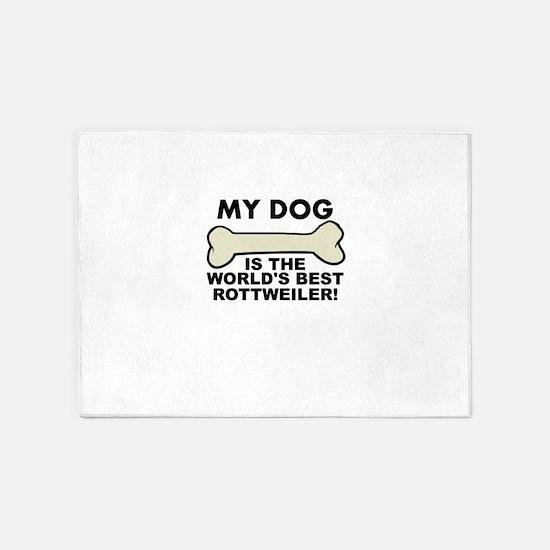 Worlds Best Rottweiler 5'x7'Area Rug