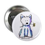 "Flower Girl Westie 2.25"" Button (100 pack)"