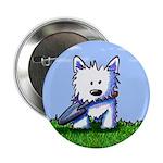 "Garden Helper Westie Pup 2.25"" Button (100 pack)"