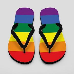 Rainbow Pride Flip Flops