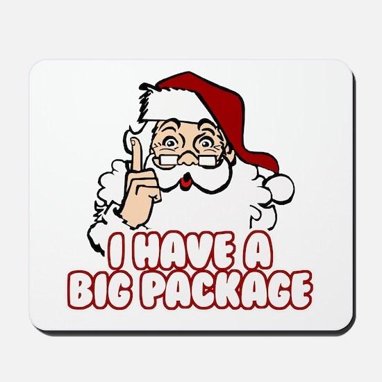 Santa Has A Big Package Mousepad