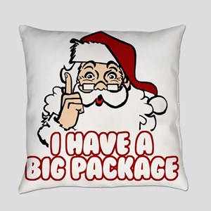 Santa Has A Big Package Everyday Pillow