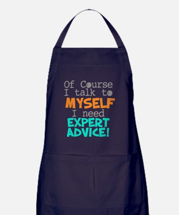I Talk To Myself  Apron (dark)