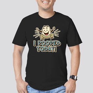 I Pooped Today Men's Fitted T-Shirt (dark)