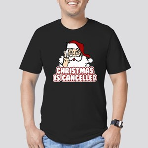 Christmas is Cancelled Men's Fitted T-Shirt (dark)