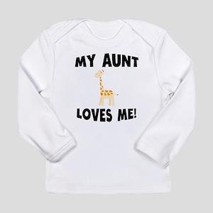 My Aunt Loves Me Giraffe Long Sleeve T-Shirt