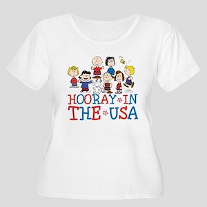Hooray in the Women's Plus Size Scoop Neck T-Shirt