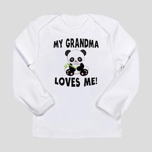My Grandma Loves Me Panda Long Sleeve T-Shirt