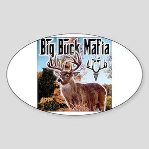 Big buck mafia Oval Sticker