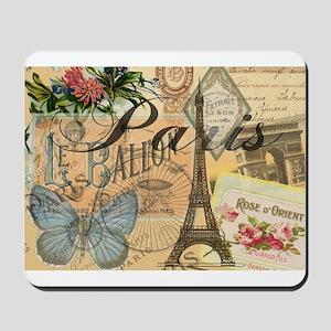 Paris France Vintage Europe Travel Mousepad