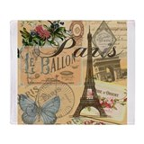 French vintage Fleece Blankets