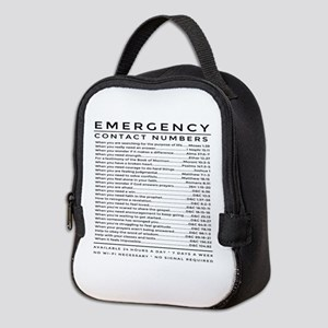 bible emergency number Neoprene Lunch Bag