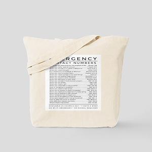 bible emergency number Tote Bag