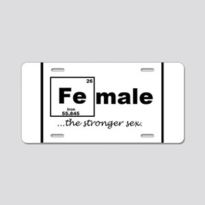 FEmale Aluminum License Plate