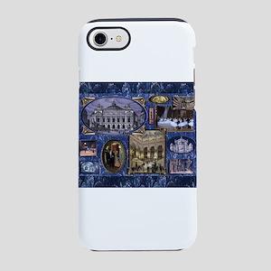 Paris Opera Blue Vintage Collage iPhone 8/7 Tough