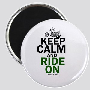 Keep Calm and Ride On Magnets
