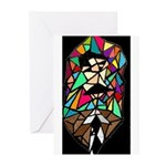 Stained Glass Nietzsche Greeting Cards