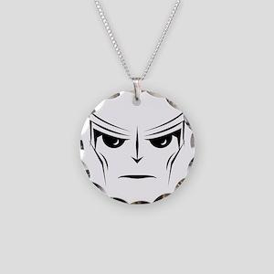 Alien Face Necklace Circle Charm