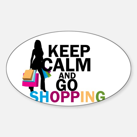 Keep Calm and Go Shopping Decal