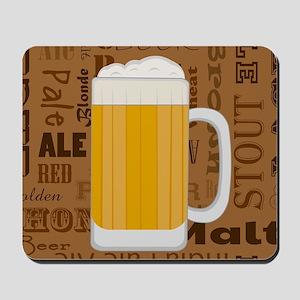 Types of Beer Series Print 1 Mousepad