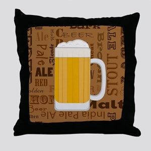 Types of Beer Series Print 1 Throw Pillow